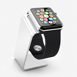 Saat Stand Chrome for Apple Watch Dock Stand